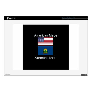 """American Born..Vermont Bred"" Flags and Patriotism Skin For Laptop"