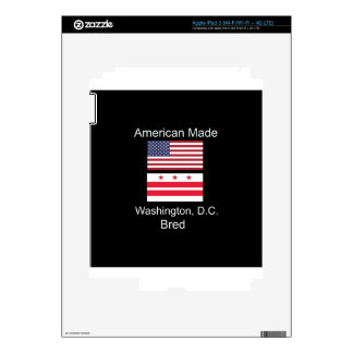 """American Born..Washington, D.C. Bred"" Flag Design iPad 3 Skin"