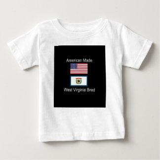 """American Born..West Virginia Bred"" Flag Design Baby T-Shirt"