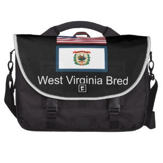 """American Born..West Virginia Bred"" Flag Design Commuter Bag"