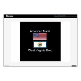 """American Born..West Virginia Bred"" Flag Design Laptop Decals"