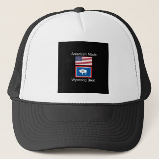 """""""American Born..Wyoming Bred"""" Flags and Patriotism Trucker Hat"""