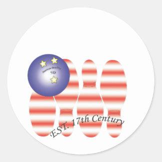 American bowling.ai classic round sticker