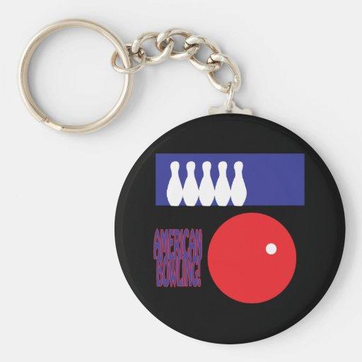 American Bowling Key Chains