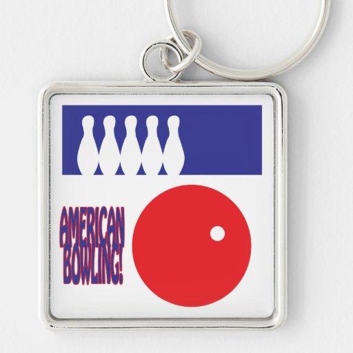 American Bowling Keychains