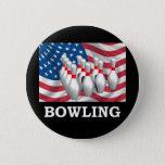 American Bowling Pinback Button
