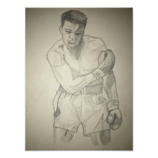 American Boxer Art Sketch Poster