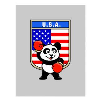 American Boxing Panda Postcards