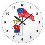American Boys Clock