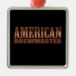 american brewmaster home brewer beer square metal christmas ornament