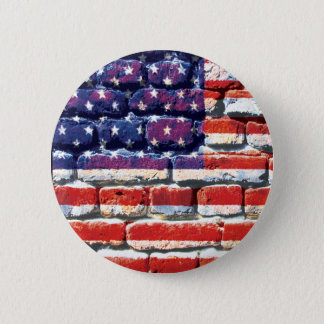 american brick pinback button