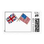 American British 3 Postage Stamps