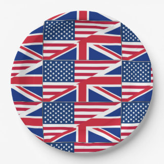 American British Flag Theme Party Paper Plates