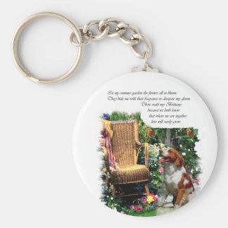 American Brittany Spaniel Art Gifts Basic Round Button Keychain