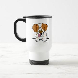 American Brittany Spaniel Cartoon Dog Travel Mug