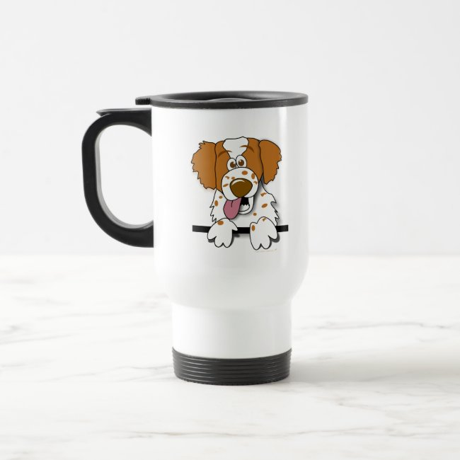 American Brittany Spaniel Cartoon Dog Travel Mug