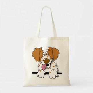 American Brittany Spaniel Cute Cartoon Dog Bag