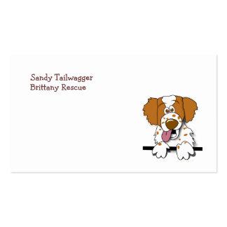 American Brittany Spaniel Cute Cartoon Dog Business Card