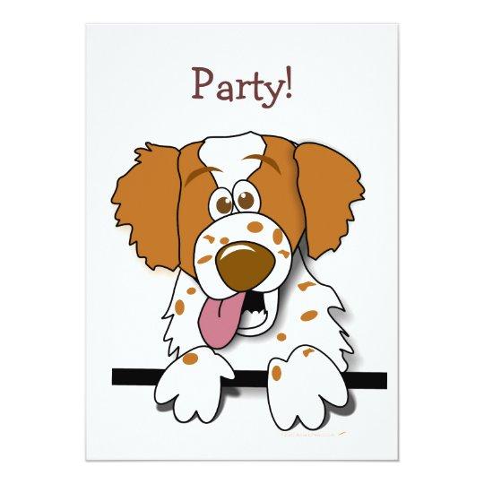 American Brittany Spaniel Cute Cartoon Dog Card