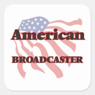 American Broadcaster Square Sticker