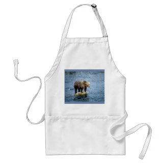 American Brown Bear in Water Adult Apron