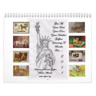 American Brussels Griffon Rescue Alliance 2011 Wall Calendar