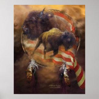 American Buffalo Art Poster/Print Poster