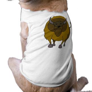 American Buffalo Bison Cartoon Pet Tee Shirt