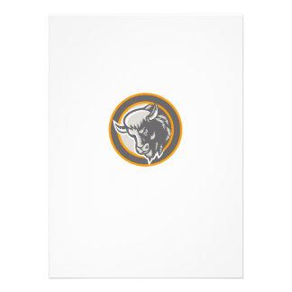 American Buffalo Bison Head Circle Retro Announcement
