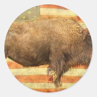 American Buffalo Classic Round Sticker