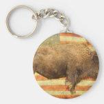 American Buffalo Keychain