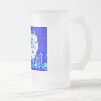 American buffalo Posterization Frosted Glass Beer Mug