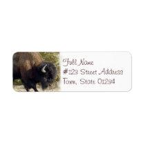 American Buffalo Return Address Label