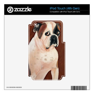 American Bull Dog Skins For iPod Touch 4G