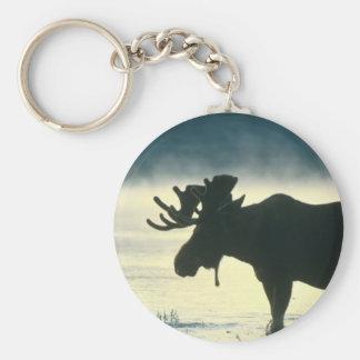 American Bull Moose Keychain