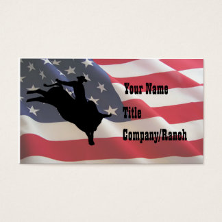 American Bull Rider Business Card