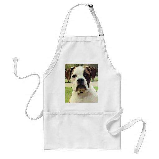 American bulldog apron