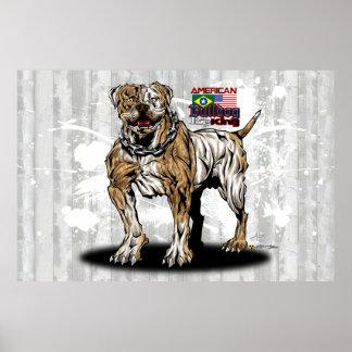 American Bulldog Art by Ricardo Pires Poster