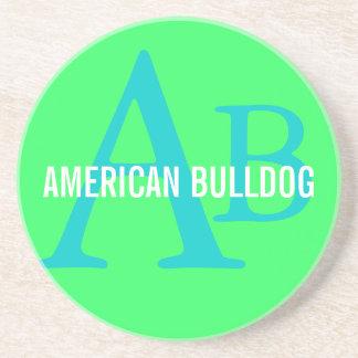 American Bulldog Breed Monogram Coaster
