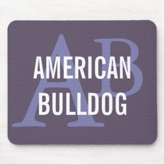American Bulldog Breed Monogram Mouse Pad