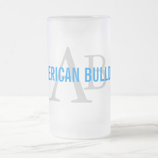American Bulldog Breed Monogram Mug