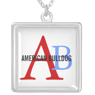 American Bulldog Breed Monogram Jewelry