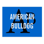 American Bulldog Breed Monogram Postcard