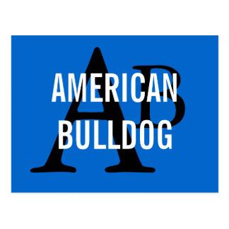 American Bulldog Breed Monogram Postcard
