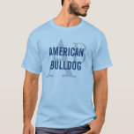 American Bulldog Breed Monogram T-Shirt