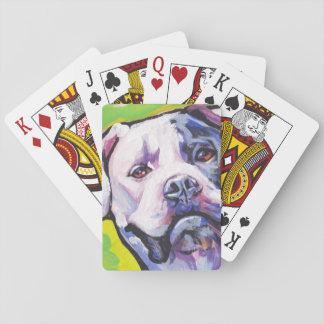 american bulldog Bright Colorful Pop Dog Art Poker Cards