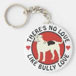American Bulldog - Bully Love Basic Round Button Keychain