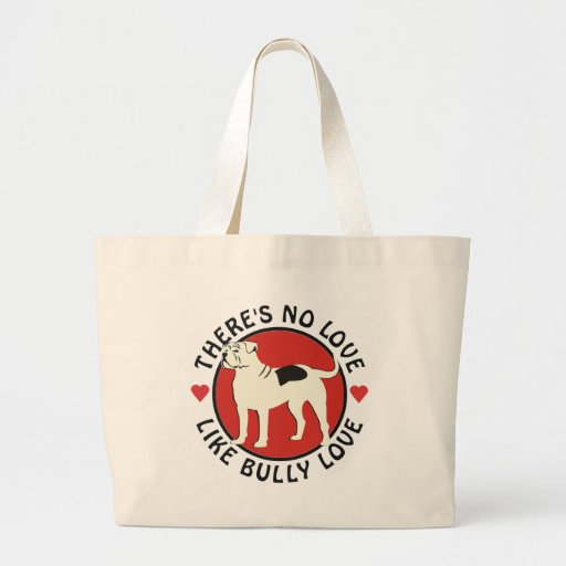 American Bulldog - Bully Love Jumbo Tote Bag