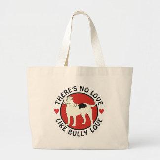American Bulldog - Bully Love Large Tote Bag