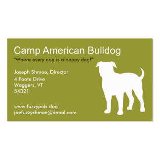American Bulldog Double-Sided Standard Business Cards (Pack Of 100)